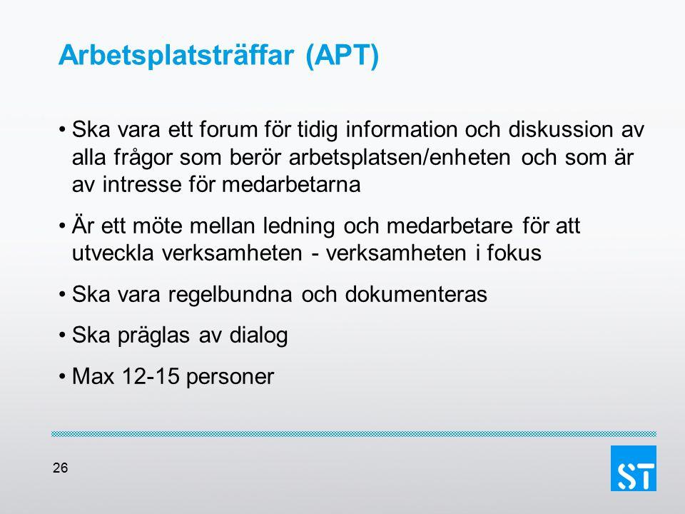 Arbetsplatsträffar (APT)