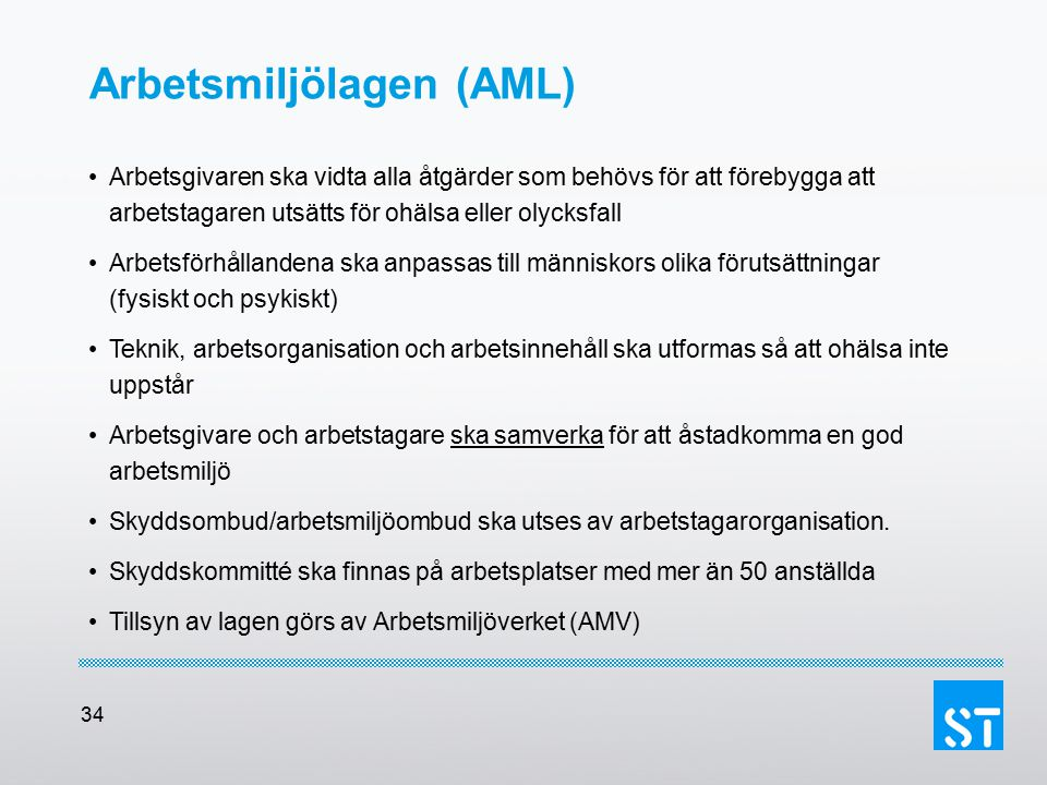 Arbetsmiljölagen (AML)