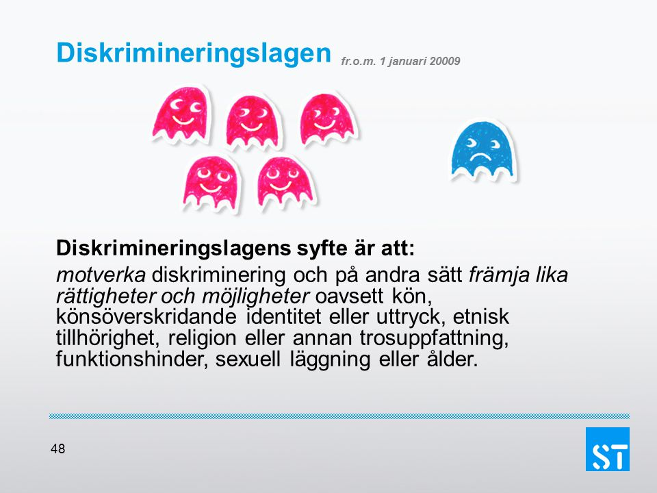 Diskrimineringslagen fr.o.m. 1 januari 20009