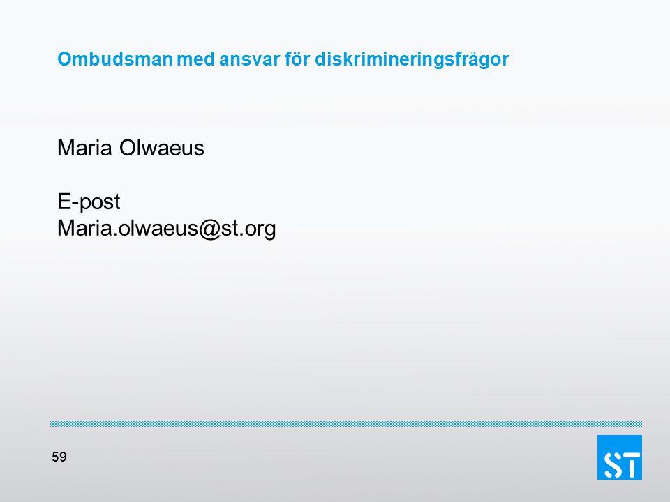 Ombudsman med ansvar för diskrimineringsfrågor