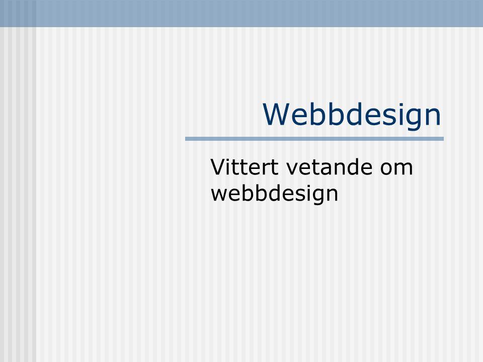 Vittert vetande om webbdesign