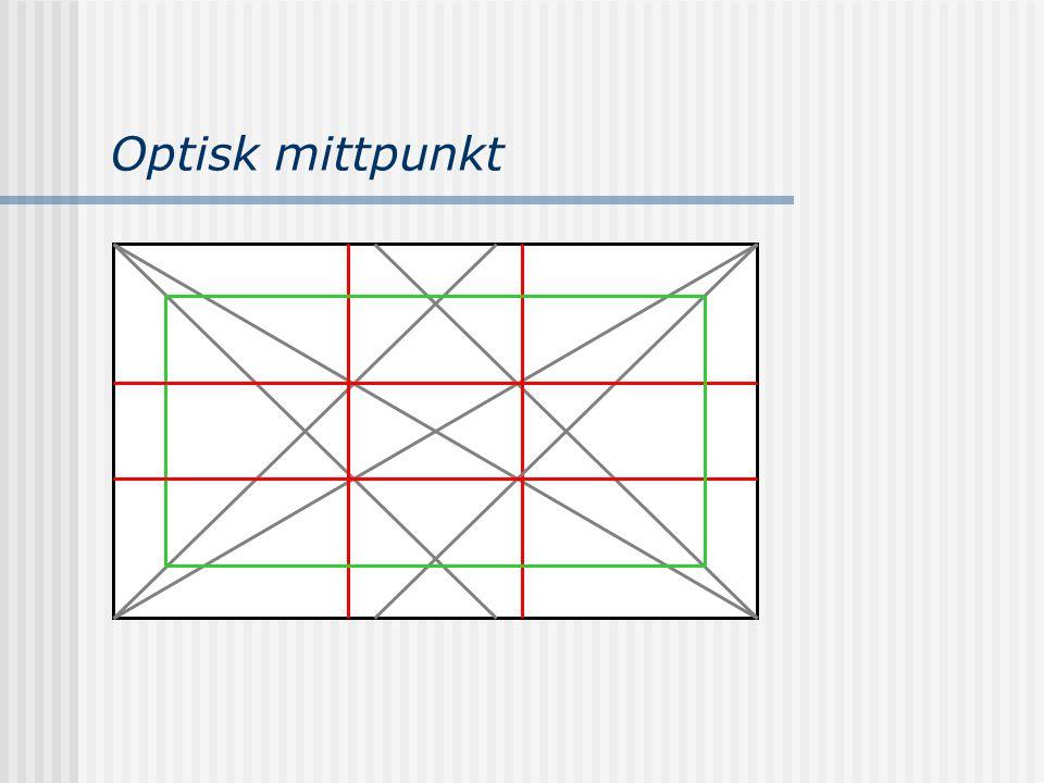 Optisk mittpunkt Denna teknik används vid fasta webbplatser