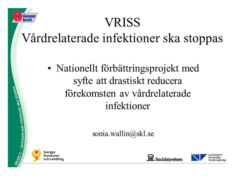 VRISS Vårdrelaterade infektioner ska stoppas