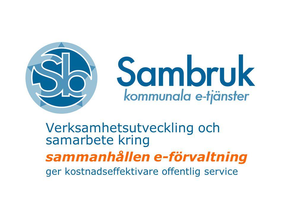 Verksamhetsutveckling och samarbete kring sammanhållen e-förvaltning