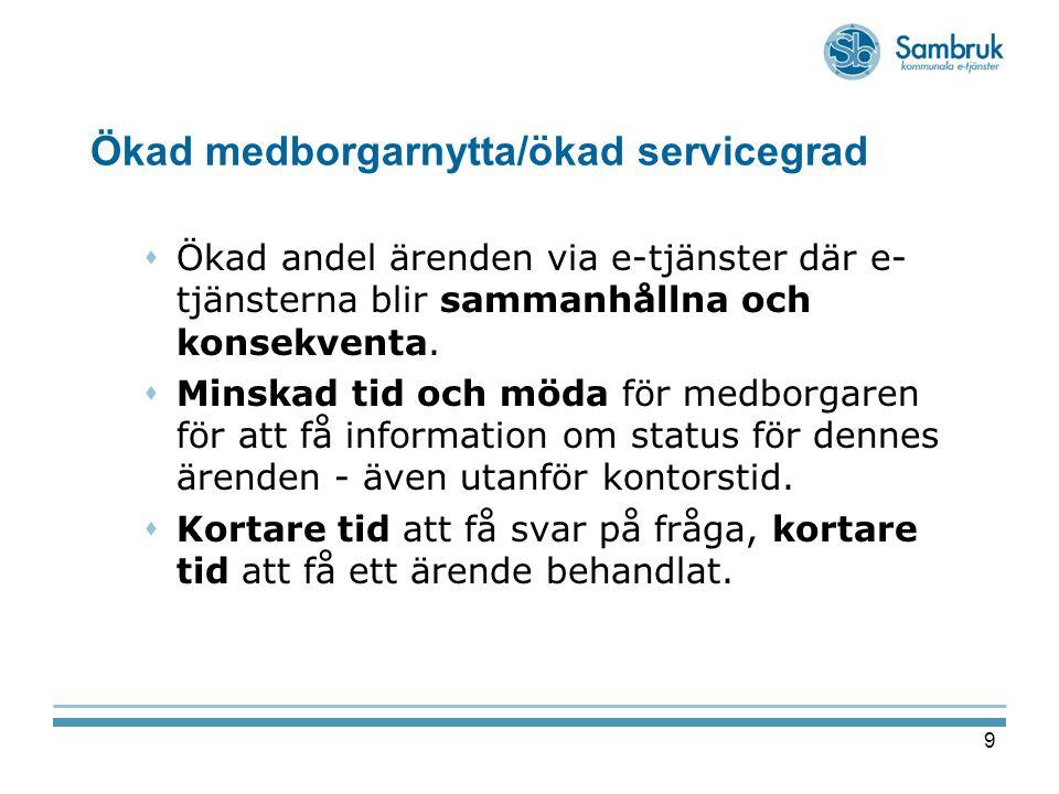 Ökad medborgarnytta/ökad servicegrad
