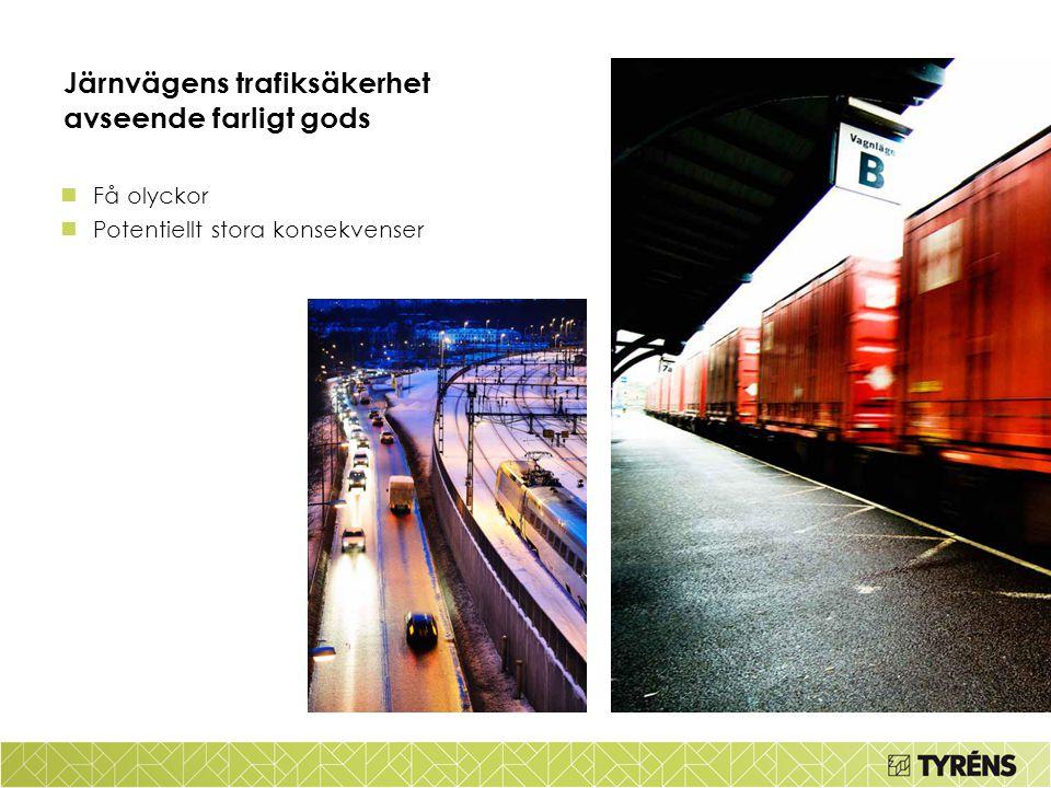 Järnvägens trafiksäkerhet avseende farligt gods