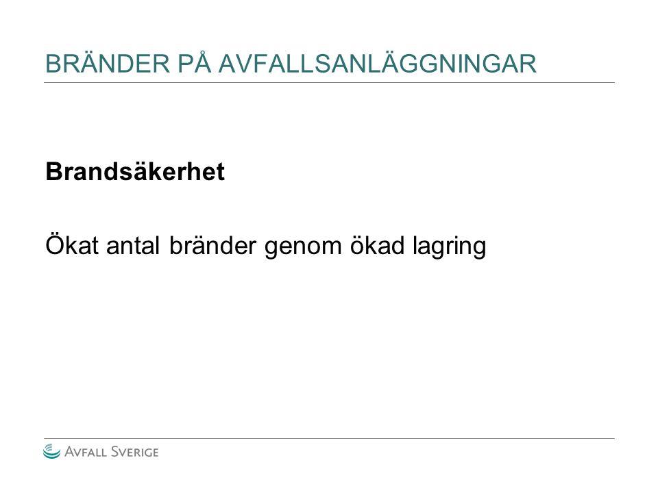 BRÄNDER PÅ AVFALLSANLÄGGNINGAR