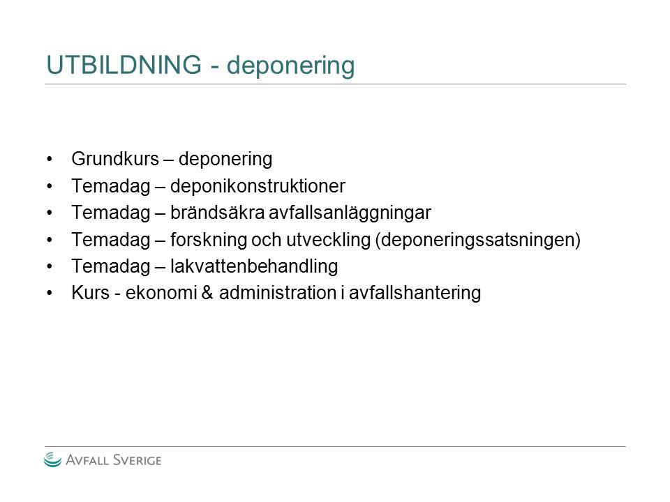 UTBILDNING - deponering