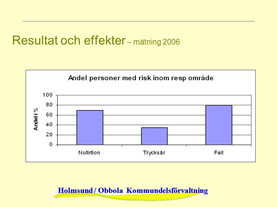 Resultat och effekter – mätning 2006