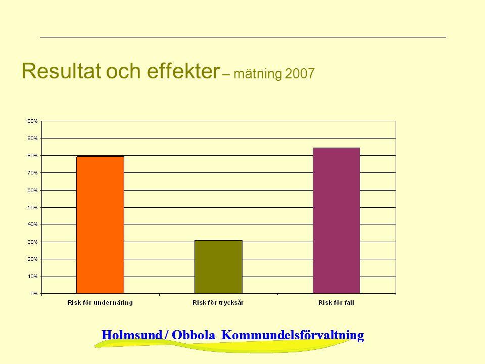 Resultat och effekter – mätning 2007