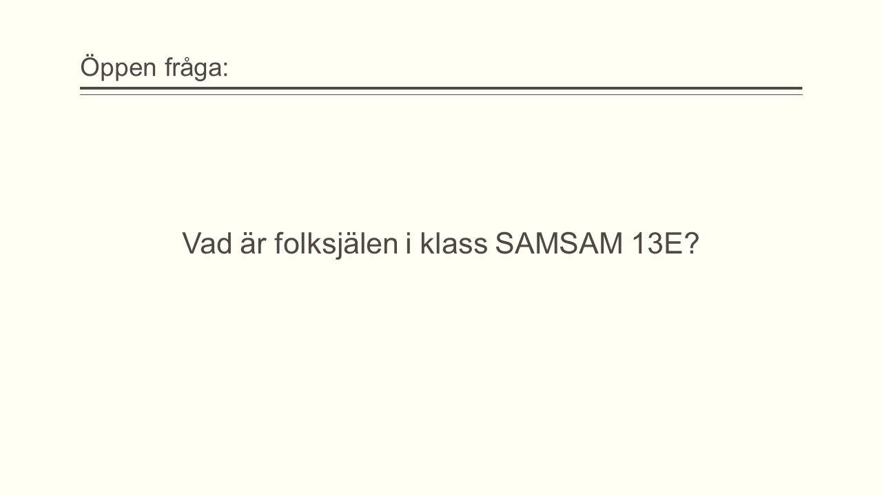 Vad är folksjälen i klass SAMSAM 13E