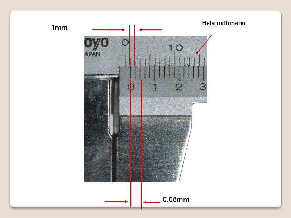 Hela millimeter 1mm 0.05mm
