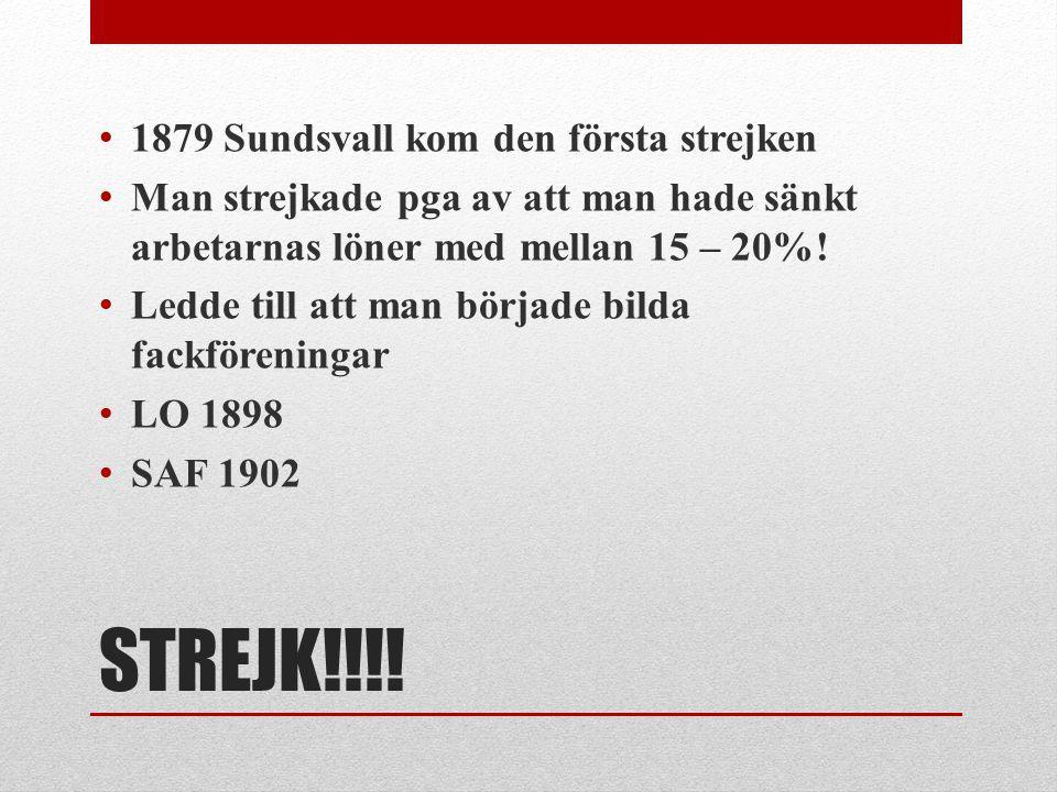 STREJK!!!! 1879 Sundsvall kom den första strejken