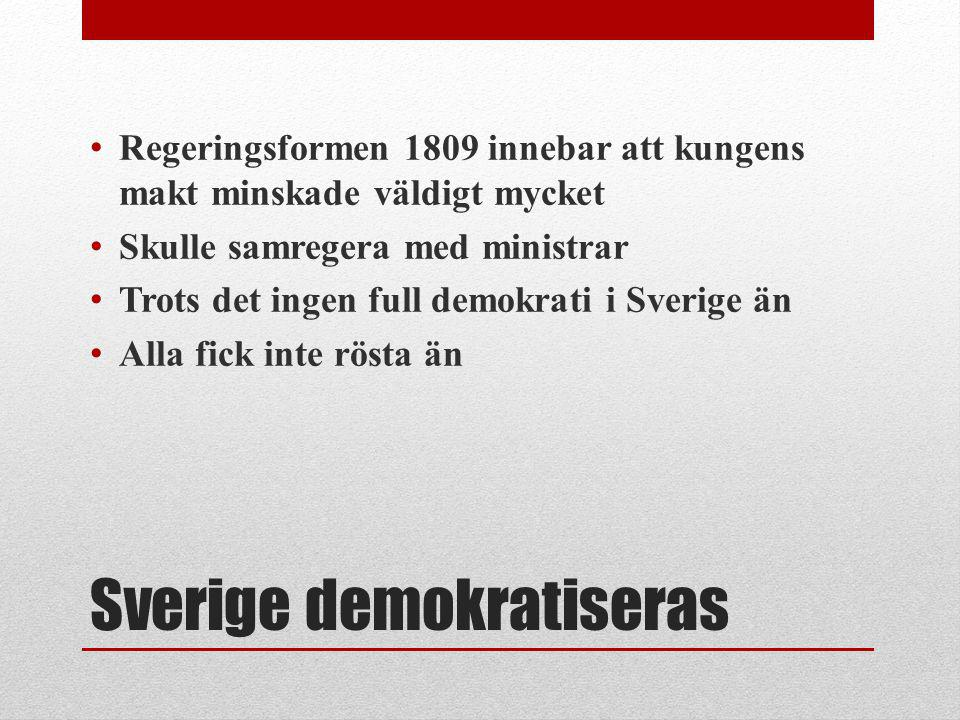Sverige demokratiseras