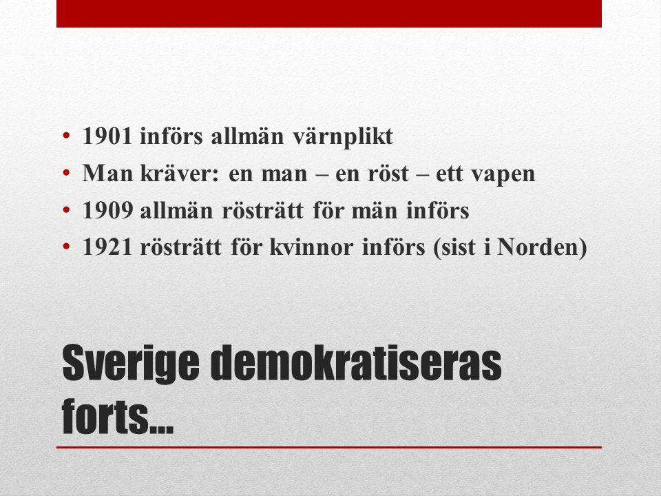 Sverige demokratiseras forts…