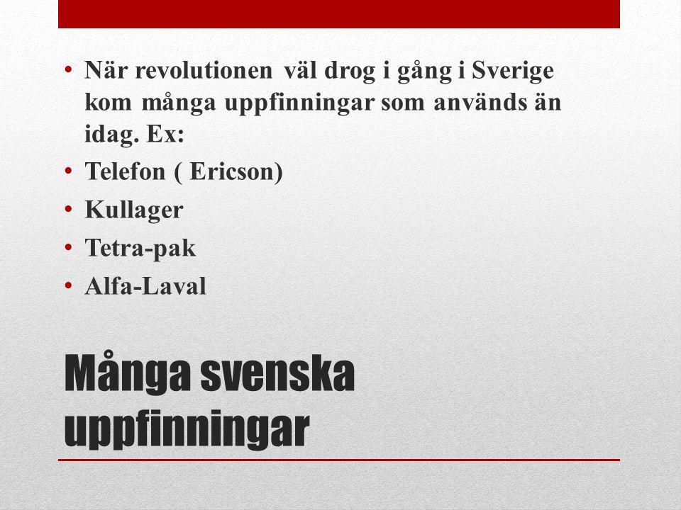 Många svenska uppfinningar