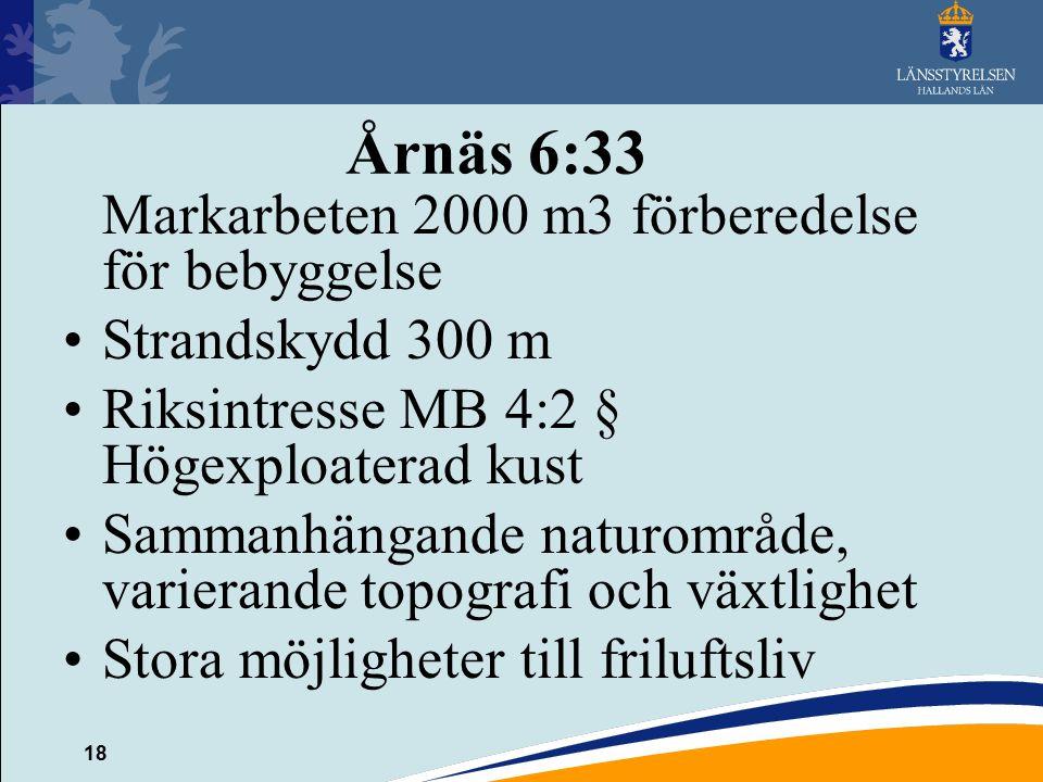 Årnäs 6:33 Markarbeten 2000 m3 förberedelse för bebyggelse