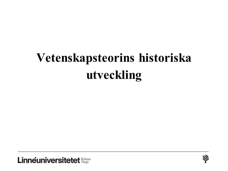 Vetenskapsteorins historiska utveckling