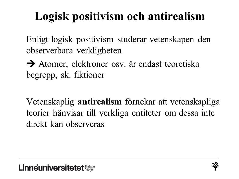 Logisk positivism och antirealism