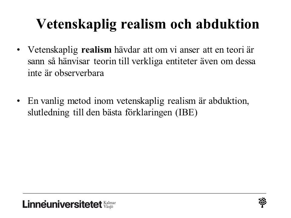 Vetenskaplig realism och abduktion