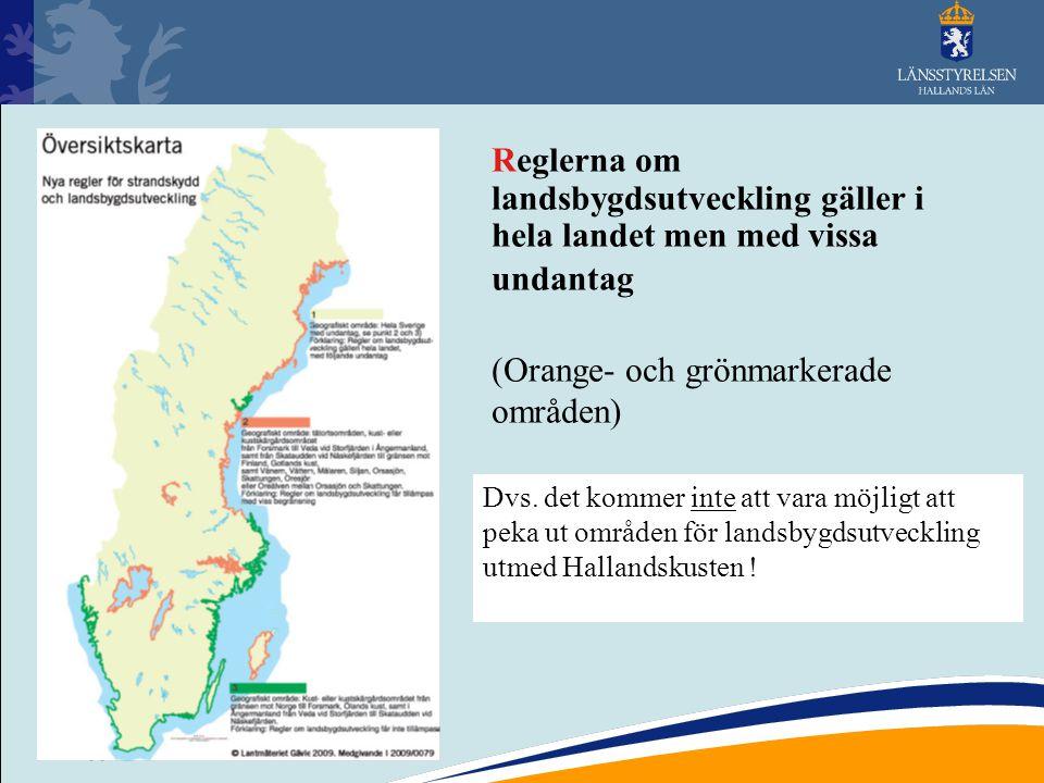 (Orange- och grönmarkerade områden)