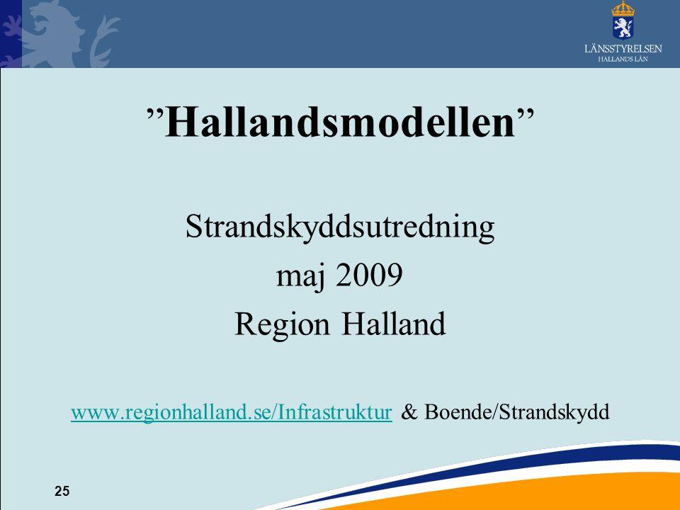 Hallandsmodellen Strandskyddsutredning maj 2009 Region Halland