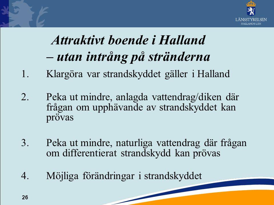 Attraktivt boende i Halland – utan intrång på stränderna