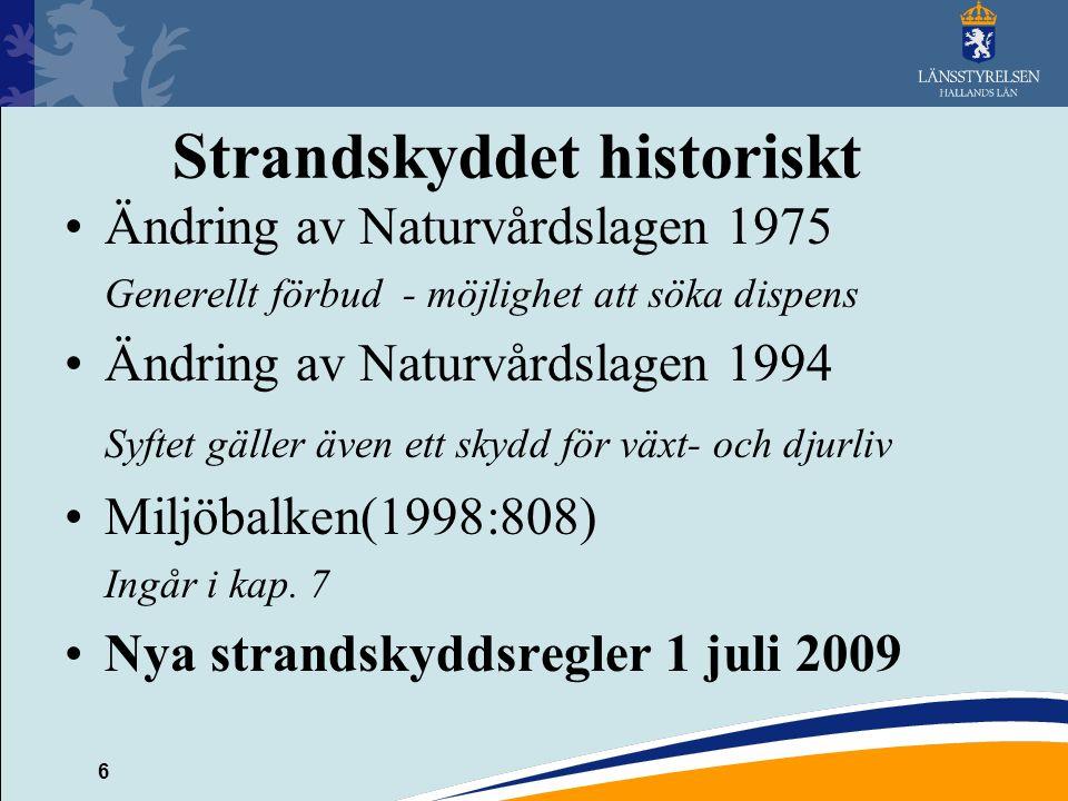 Strandskyddet historiskt
