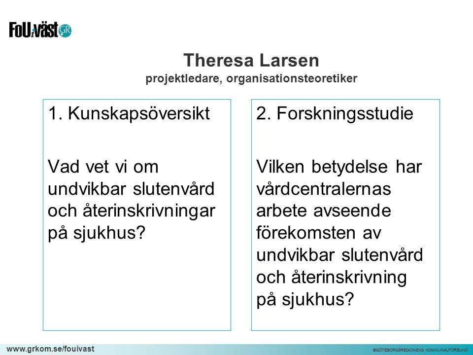 Theresa Larsen projektledare, organisationsteoretiker