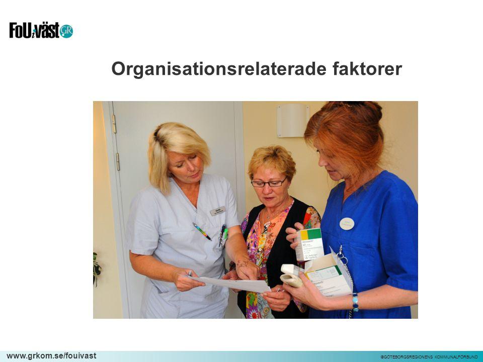 Organisationsrelaterade faktorer