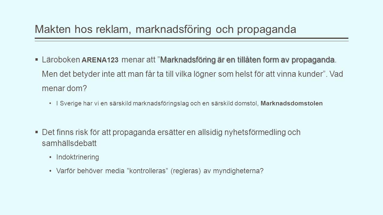Makten hos reklam, marknadsföring och propaganda