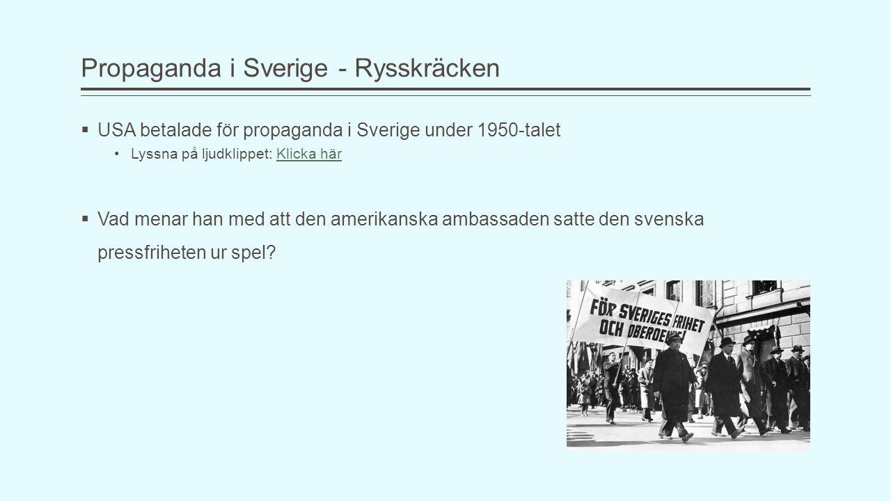 Propaganda i Sverige - Rysskräcken