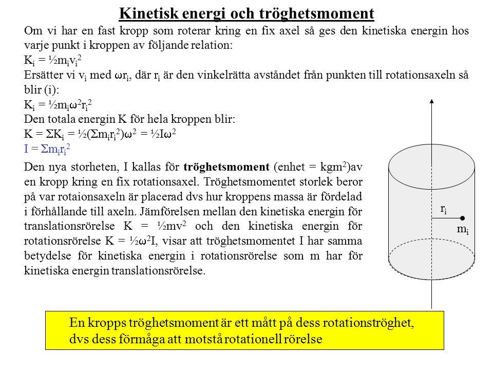 Kinetisk energi och tröghetsmoment