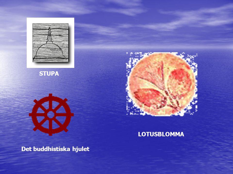 STUPA LOTUSBLOMMA Det buddhistiska hjulet