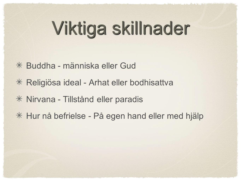 Viktiga skillnader Buddha - människa eller Gud