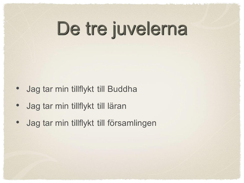 De tre juvelerna Jag tar min tillflykt till Buddha