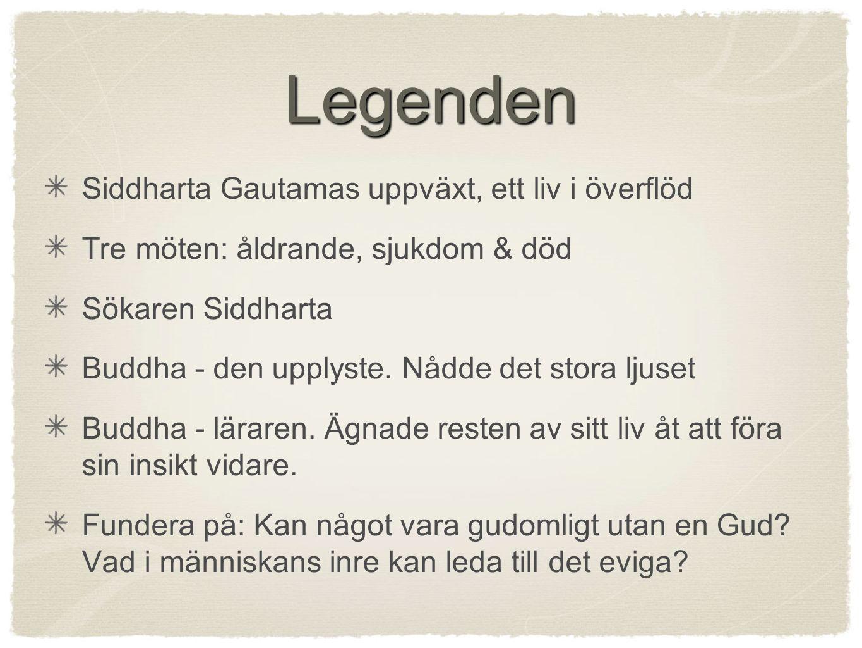 Legenden Siddharta Gautamas uppväxt, ett liv i överflöd