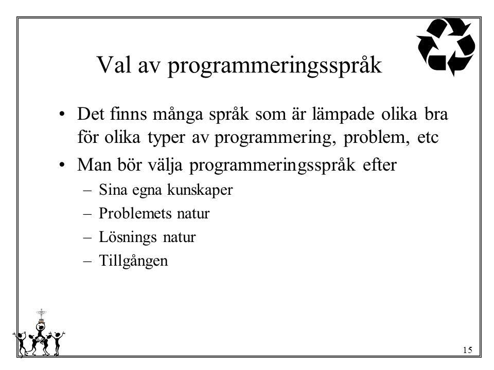 Val av programmeringsspråk