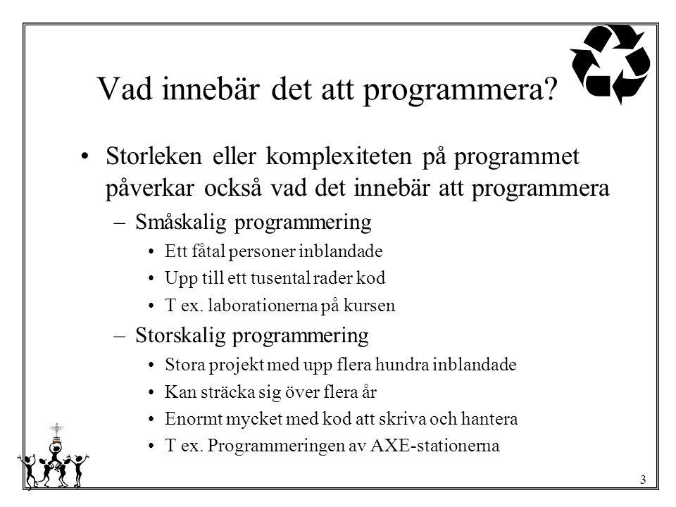 Vad innebär det att programmera