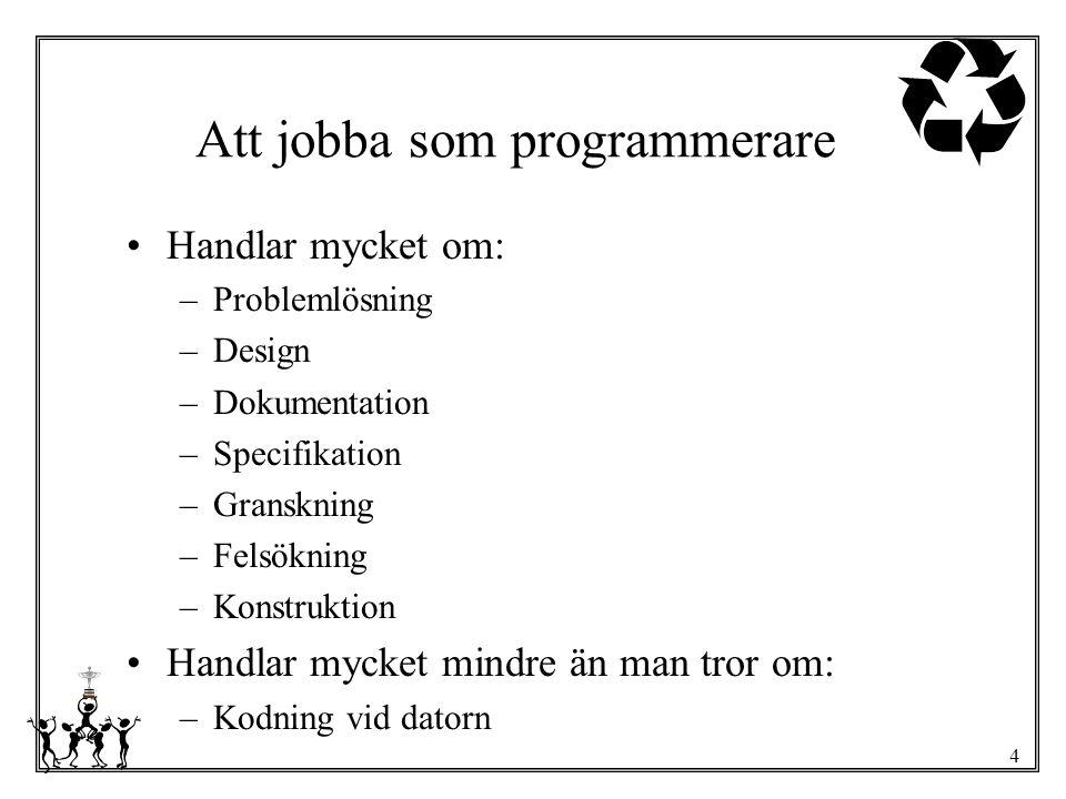 Att jobba som programmerare