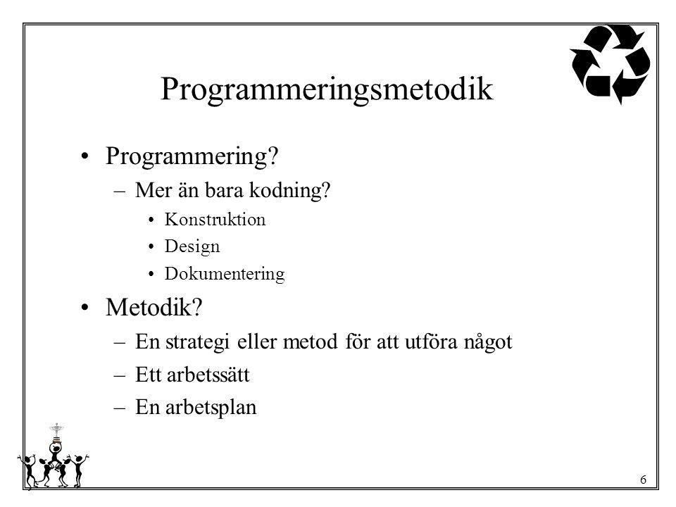 Programmeringsmetodik