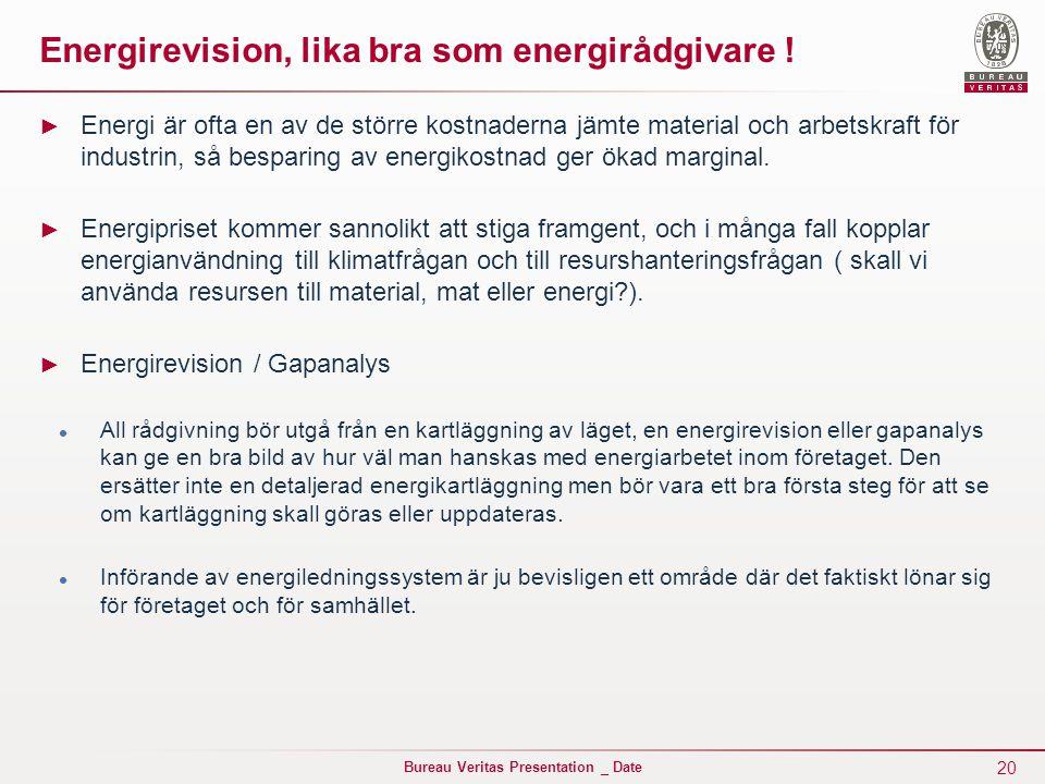 Energirevision, lika bra som energirådgivare !