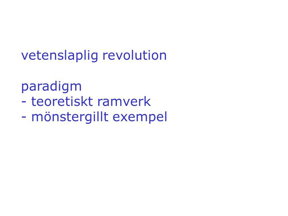 vetenslaplig revolution paradigm - teoretiskt ramverk