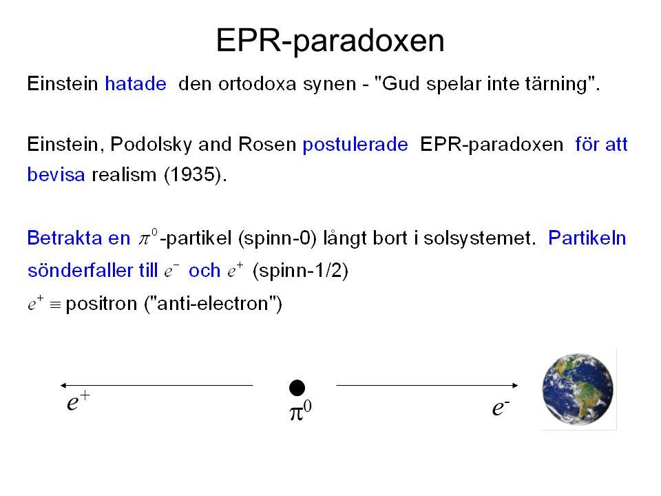 EPR-paradoxen e+ e- p0