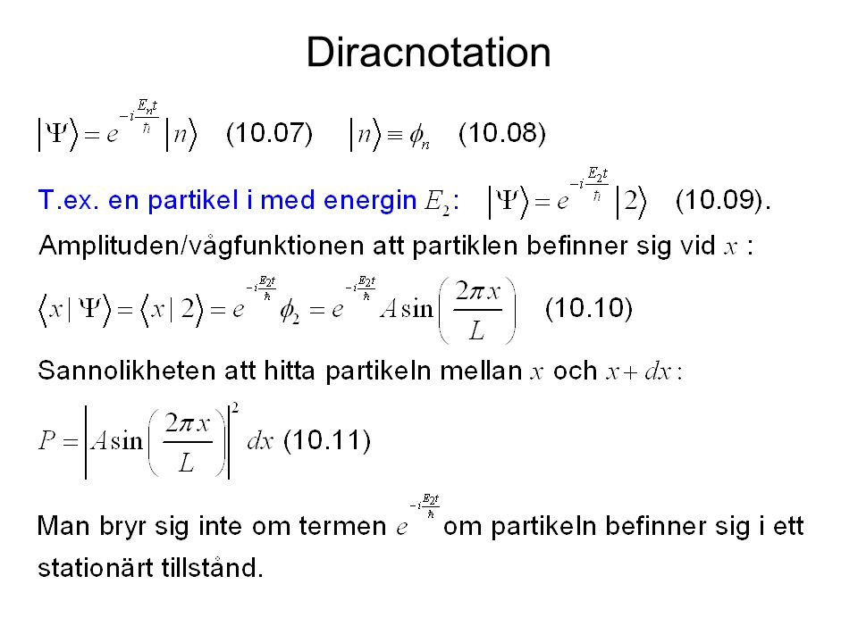 Diracnotation