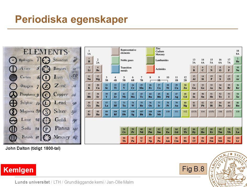 Periodiska egenskaper