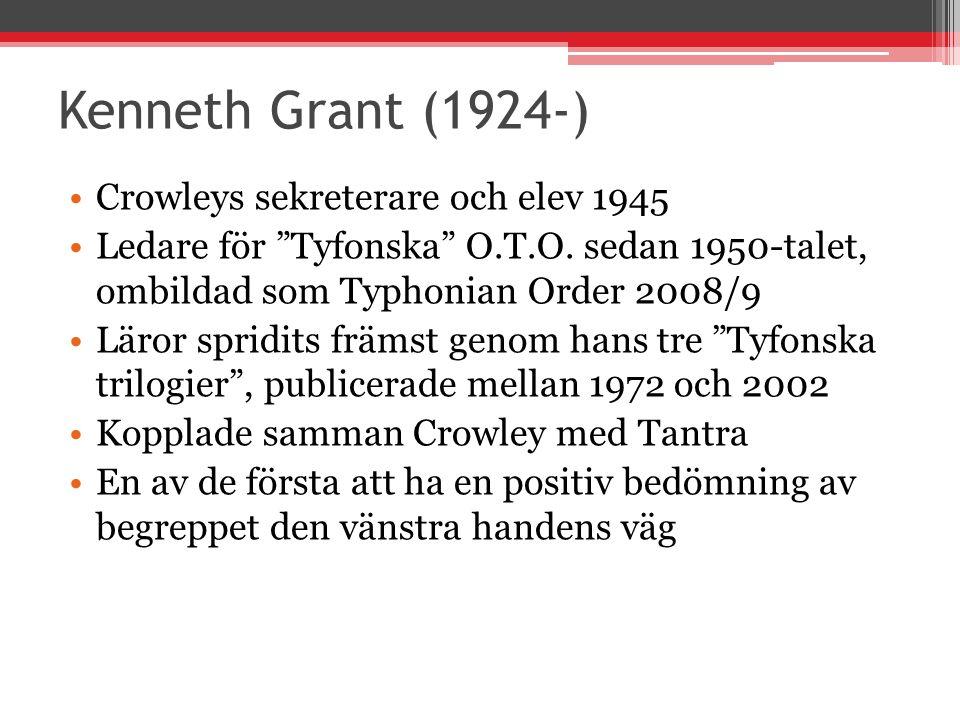 Kenneth Grant (1924-) Crowleys sekreterare och elev 1945