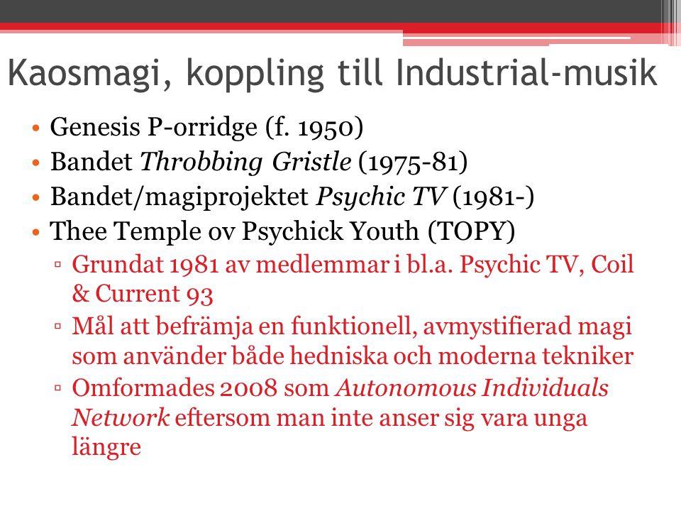Kaosmagi, koppling till Industrial-musik