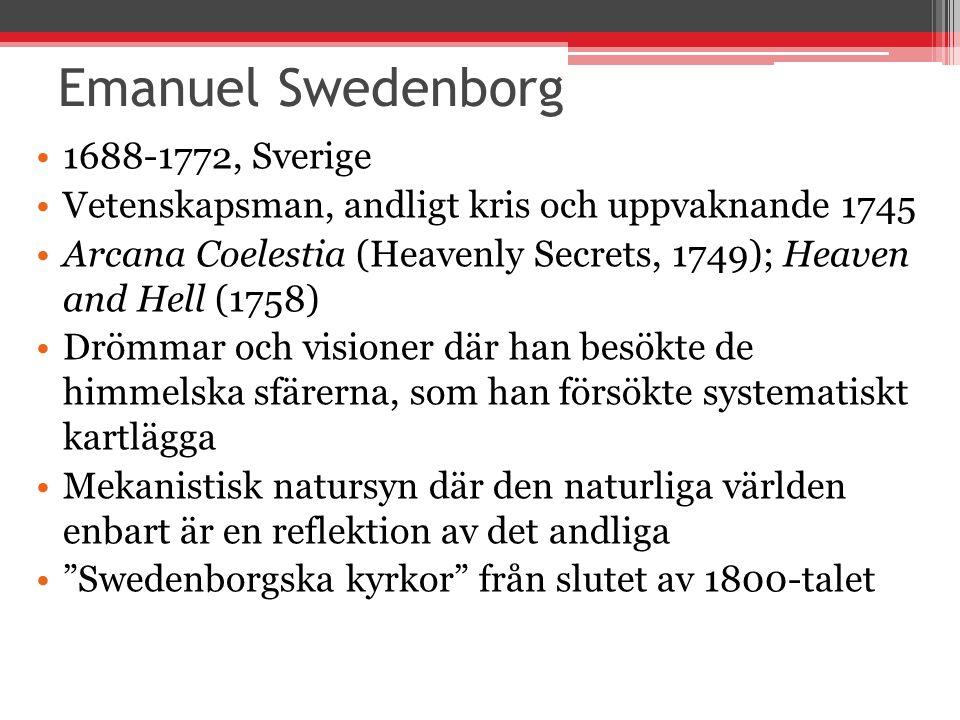 Emanuel Swedenborg 1688-1772, Sverige