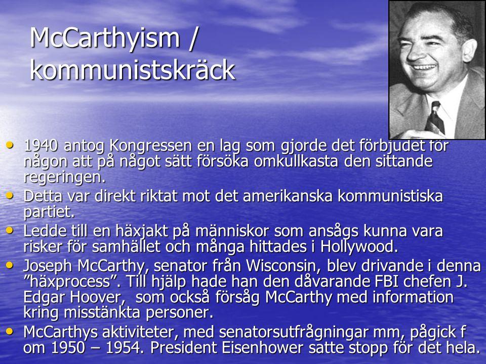 McCarthyism / kommunistskräck